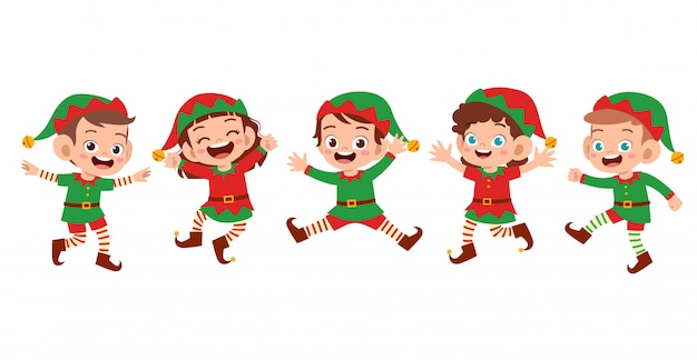 Niños felices sonríen risa conjunto de expresión