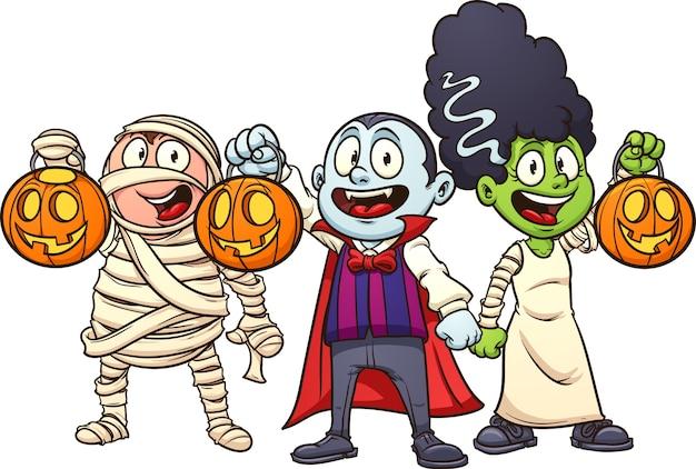 Niños de halloween