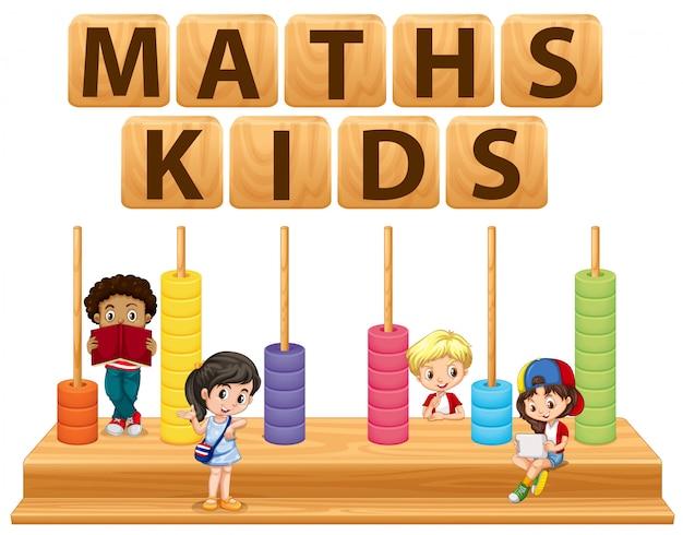 Niños y juguetes de matemáticas
