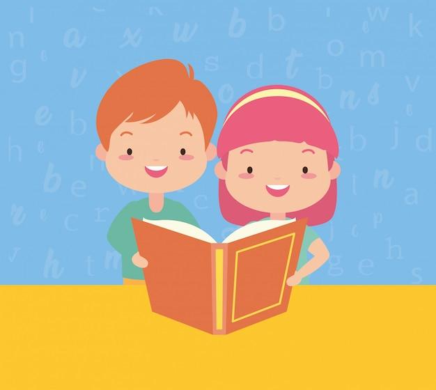 Niños en kid in world book day