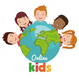 Niños en línea