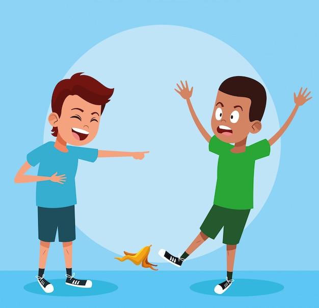 Niños riendo con bromas