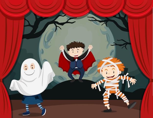 Niños en show de terror