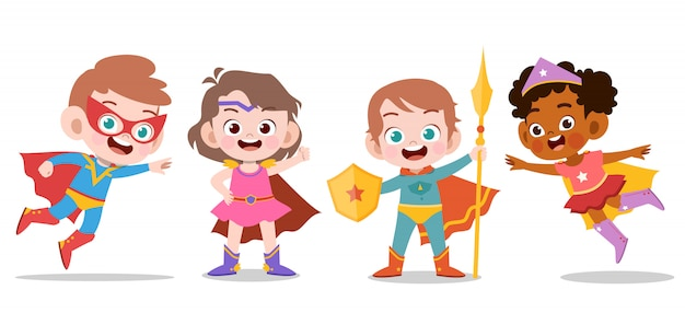 Niños superhéroes