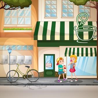 Niños y tiendas