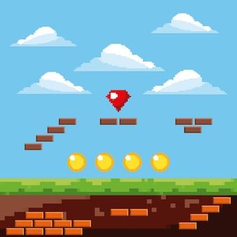 Nivel de juego de píxel