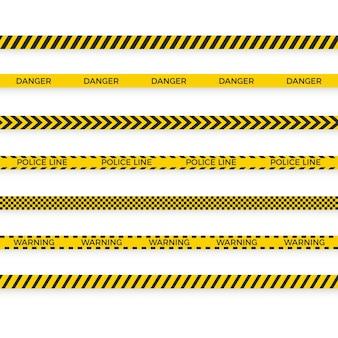 No cruce la barrera de la cinta