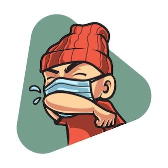 No estornudes descuidadamente, lucha por el virus corona