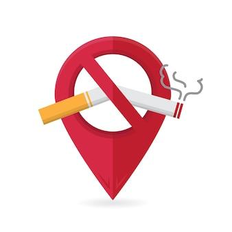 No fumar y área de fumadores fumar cigarrillos peligro de incendio insignia de icono de riesgo