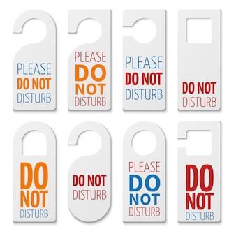 No molestar a la colección de piezas de plástico realistas