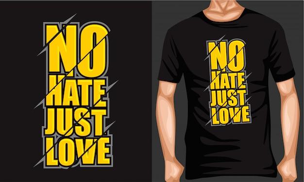 No odio solo amor letras tipografía