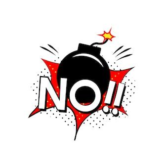 ¡no! vector de explosión