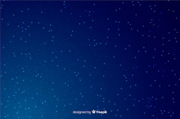 Noche estrellada fondo azul degradado