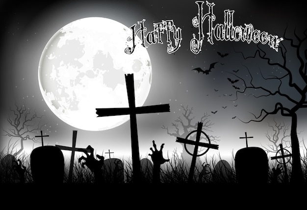 Noche de fondo de halloween