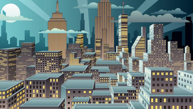 Noche de paisaje urbano