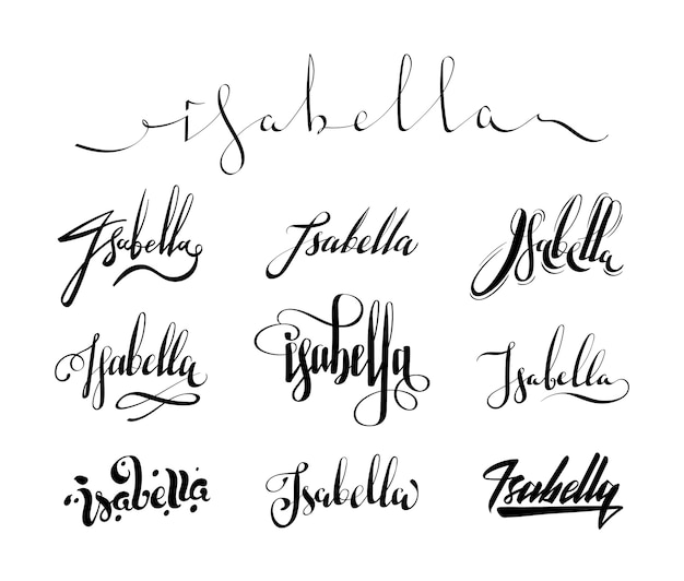 Nombre personal isabella