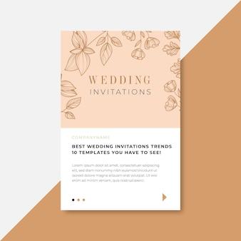 Nos vamos a casar con diseño de hojas de invitación.