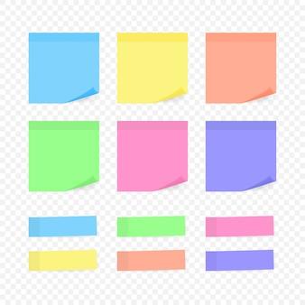 Nota adhesiva colorida ilustración sobre blanco