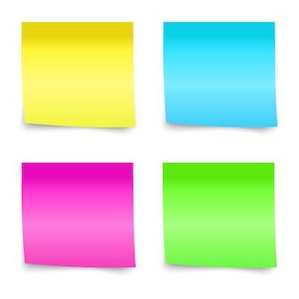 Nota adhesiva colorida, ilustración.