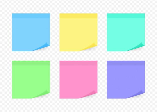 Nota adhesiva colorida
