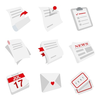 Nota hoja de papel periódico página carta calendario entrada