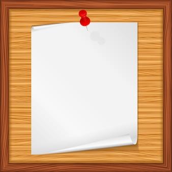 Nota de papel sobre fondo de madera