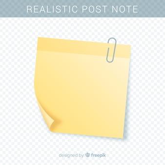 Nota realista sobre fondo transparente