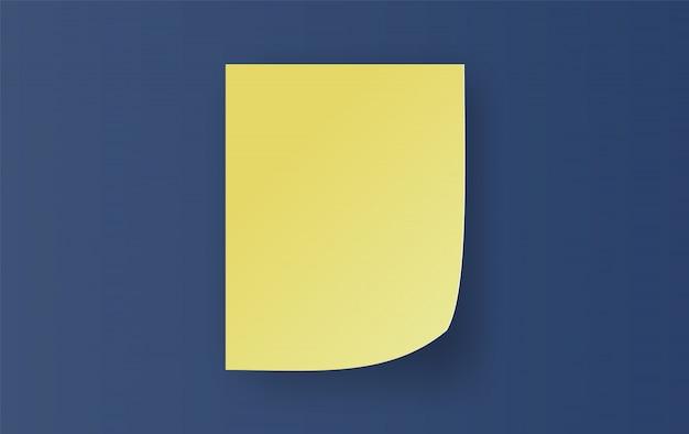 Notas adhesivas amarillas vacías