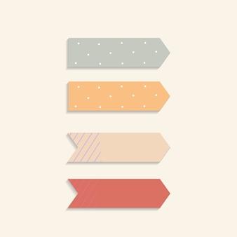 Notas adhesivas de colores