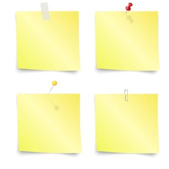 Notas adhesivas - conjunto de notas adhesivas amarillas
