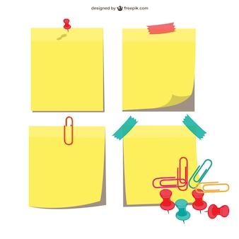 Las notas adhesivas paquete