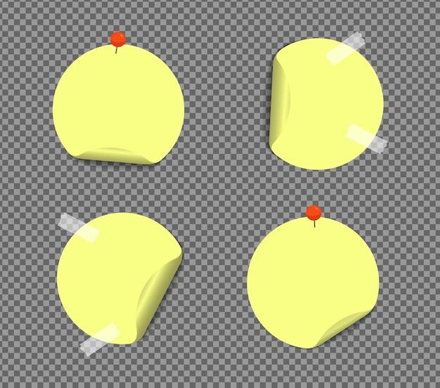 Notas adhesivas realistas aisladas con sombra real. recordatorios cuadrados de papel adhesivo con sombras, página de papel.