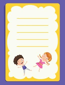 Notas en blanco para la educación de los niños