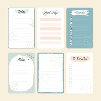 Notas y bloc de notas azul