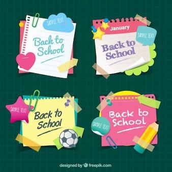 Notas coloridas de colegio