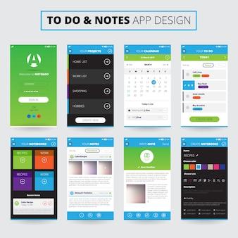 Notas de diseño de aplicaciones móviles.