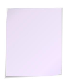 Notas de post-it blancas aisladas sobre fondo blanco.
