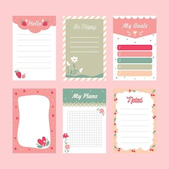 Notas y tarjetas de álbumes de recortes
