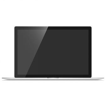 Notebook pro set mockup vector