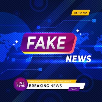 Noticias falsas en tv y sitios web en línea
