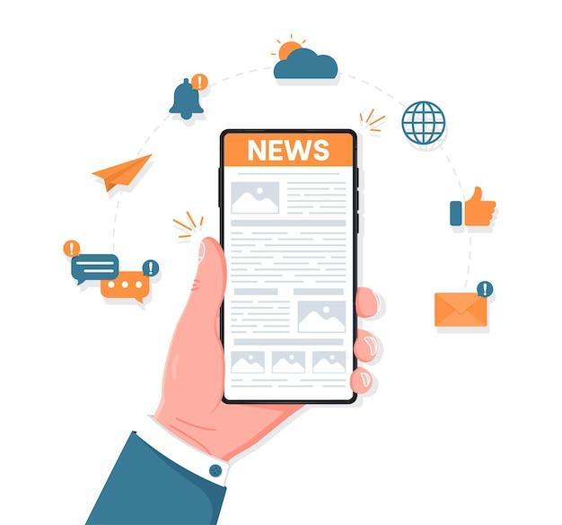Noticias de lectura web sobre el concepto de dispositivo móvil