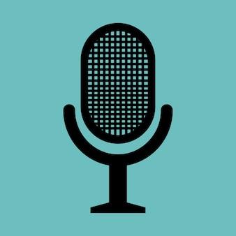 Noticias de micrófono retro