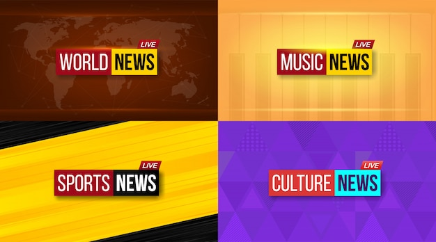 Noticias de televisión emitidas diariamente, fondo de noche.