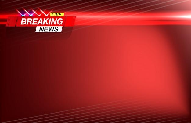 Noticias de última hora, noticias importantes, titulares en forma de luces intermitentes de la policía. imagen vectorial