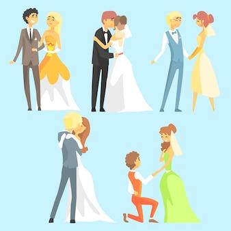 Novias y novios parejas