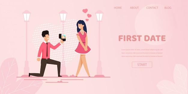 Novio rodilla con anillo hacer propuesta novia