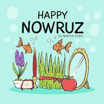 Nowruz feliz con pescado