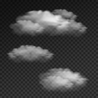 Nube aislada realista en transparente
