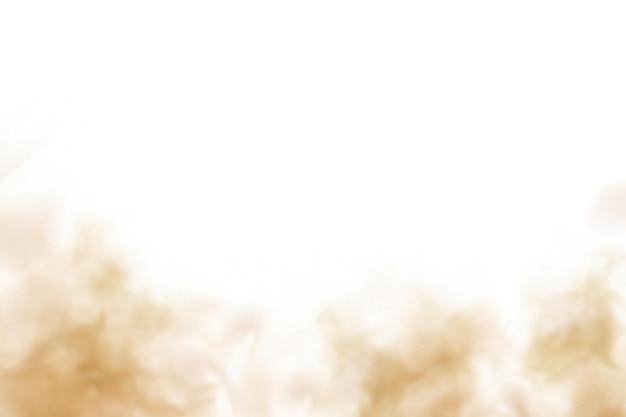 Nube de arena de polvo en una carretera polvorienta desde un coche. rastro de dispersión en la pista de movimiento rápido. ilustración de stock vector realista transparente