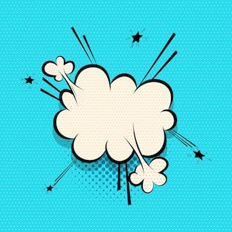 Nube de burbujas de discurso de cómics para diseño de texto pop art
